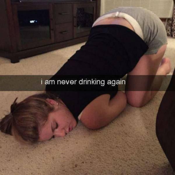 外国网友分享醉酒囧照 搞笑画面让人无法直视