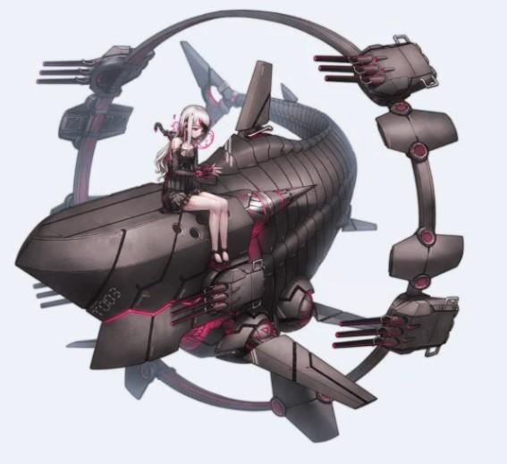 《战舰少女R》2.4.0深海立绘