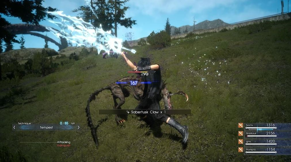 《最终幻想15》曝光武器系统