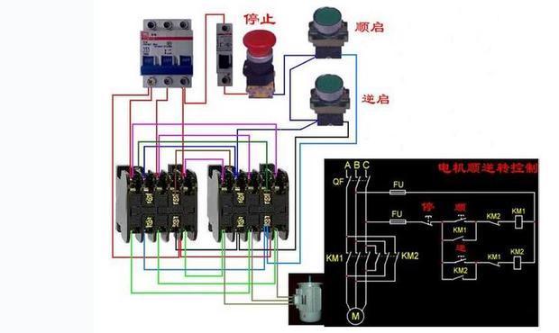 电动机正反转线路图