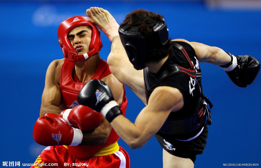 拳击手绘墙素材