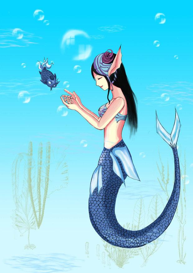 求可爱唯美的美人鱼公主图片