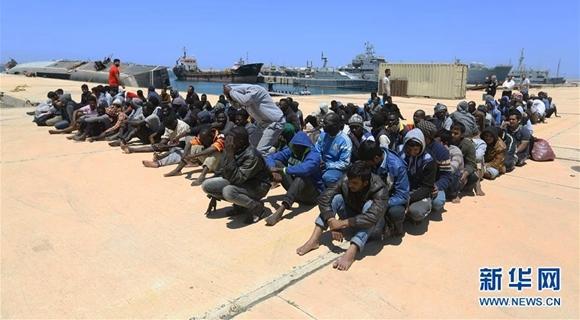 利比亚海军救起260名非法移民